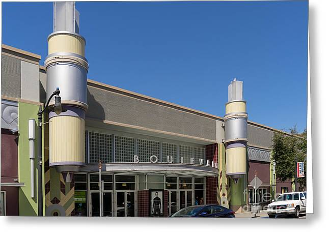 Boulevard Cinemas Theater In Petaluma California Usa Dsc3830 Greeting Card by Wingsdomain Art and Photography