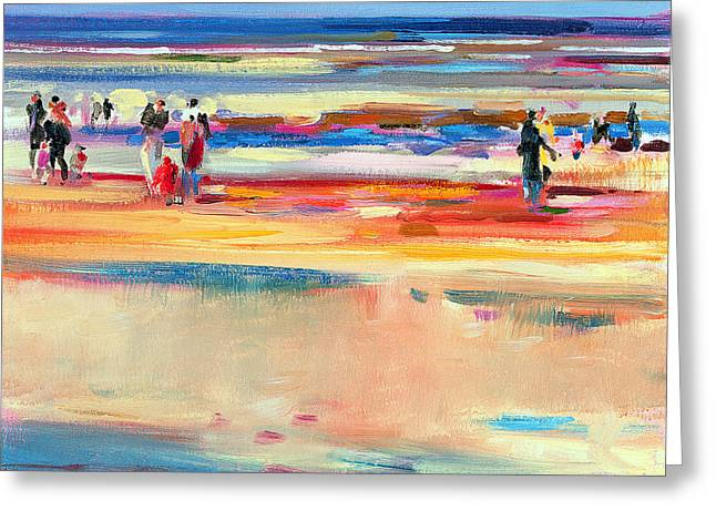 Abstract Expressionist Paintings Greeting Cards - Boulevard de Boudin Greeting Card by Peter Graham