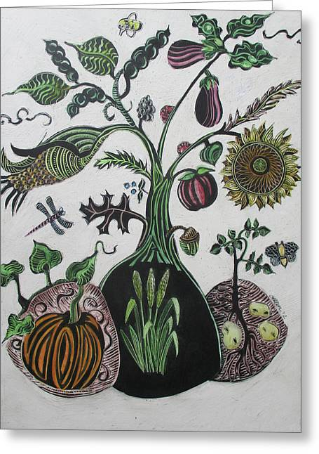 Bountiful Tree Greeting Card by Grace Keown