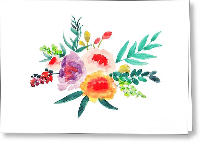 Bouquet Chic Greeting Card by Rasirote Buakeeree