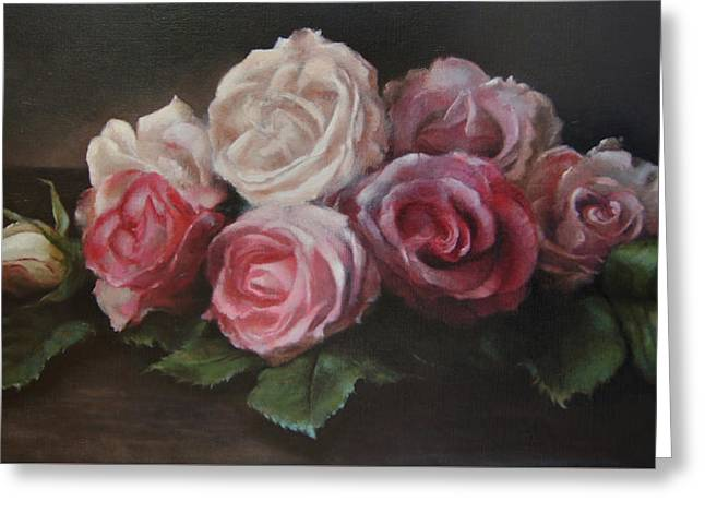 Subtle Colors Greeting Cards - Bouquet de table Greeting Card by Kira Weber