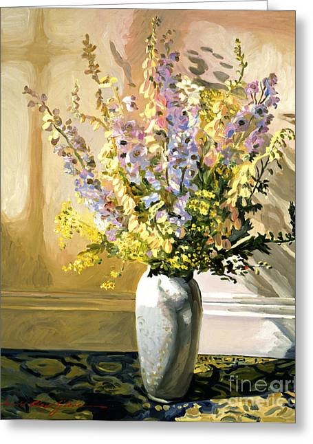 Flower Arrangements Greeting Cards - Bouquet Impressions Greeting Card by David Lloyd Glover