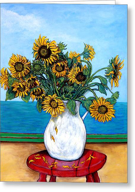 Bouquet Of Sunflowers Greeting Cards - Bouquet of Beauty Greeting Card by Tom Roderick