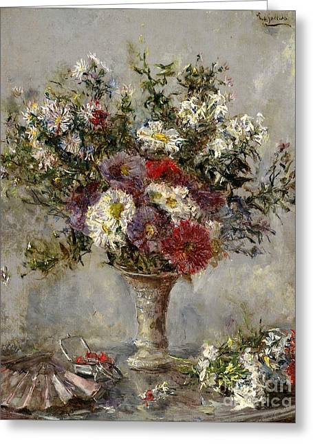 Vase Of Flowers Greeting Cards - Bouquet of Flowers in a Vase Greeting Card by Celestial Images
