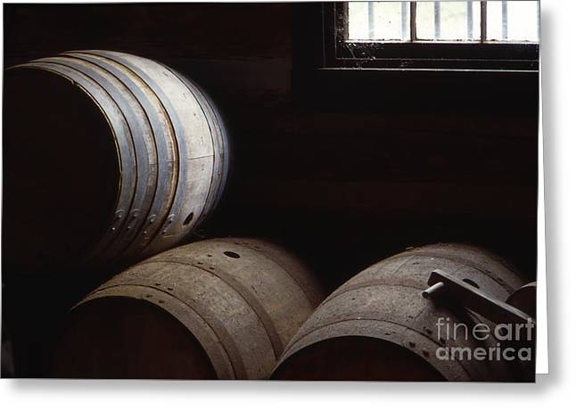 Southern Indiana Photographs Photographs Greeting Cards - Bourbon Barrels Greeting Card by Lowell Anderson