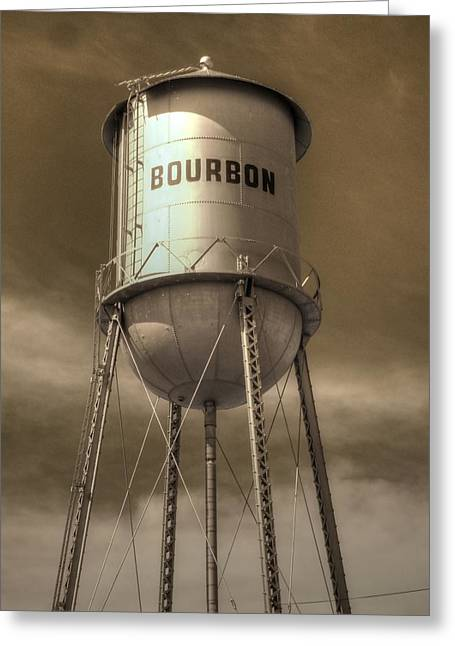Hooch Greeting Cards - Bourbon Greeting Card by Jane Linders