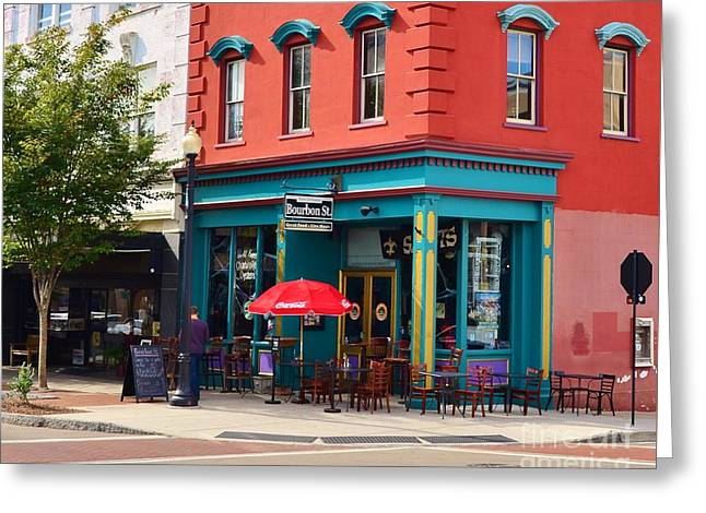 Store Fronts Greeting Cards - Bourbon Street Diner and Pub Greeting Card by Bob Sample