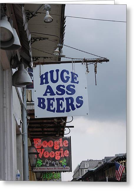 Bourbon Street Signs Greeting Card by Lauri Novak