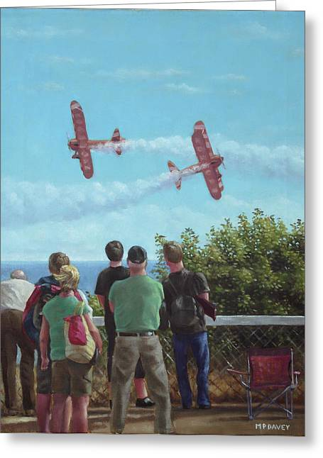 Plane Radial Engine Greeting Cards - Bournemouth air festival Greeting Card by Martin Davey