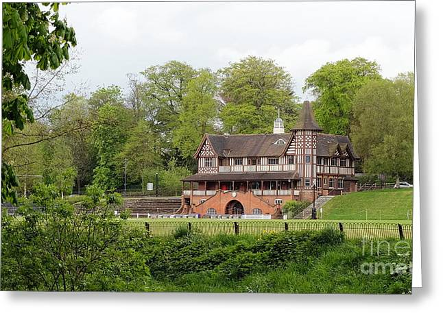 Quaker Greeting Cards - Bournville Cricket Pavillion Greeting Card by John Chatterley