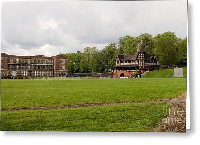 Quaker Greeting Cards - Bournville Cricket Pitch Greeting Card by John Chatterley