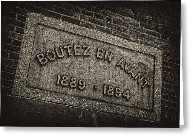 Signed Photographs Greeting Cards - Boutez en Avant Greeting Card by Robert Ullmann