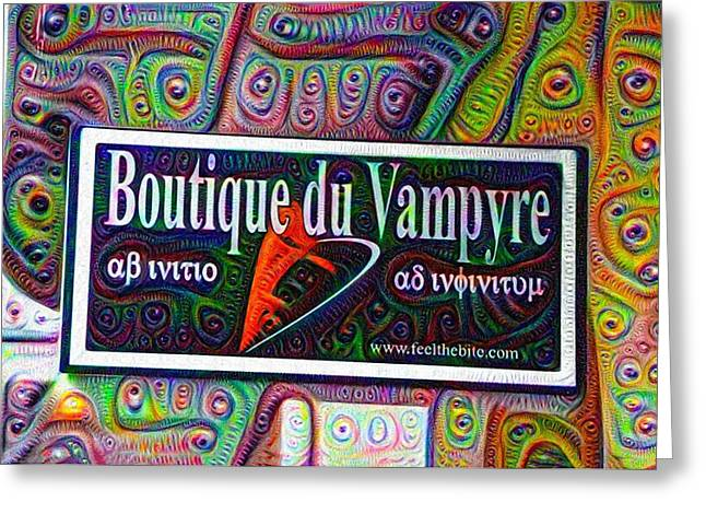 Cigar Factory Greeting Cards - Boutique du Vampyre -  New Orleans Greeting Card by Bill Cannon
