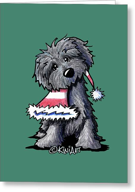 Kim Drawings Greeting Cards - Bouvier des Flandres Puppy Greeting Card by Kim Niles