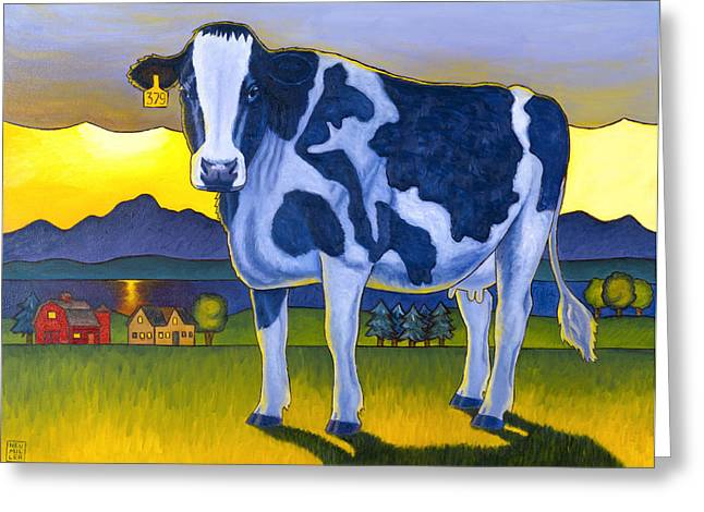 Bovine Greeting Cards - Bovine Whidbey Greeting Card by Stacey Neumiller