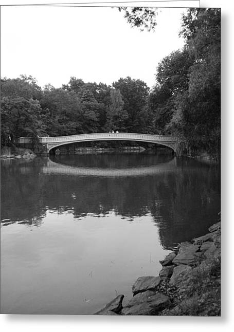 Bow Bridge And The Lake Greeting Card by Christopher Kirby