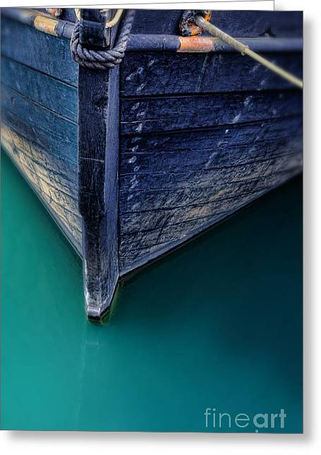 Wooden Ship Greeting Cards - Bow of Wooden Ship Greeting Card by Jill Battaglia