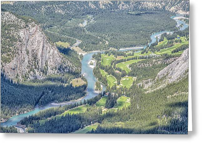 Alberta Foothills Landscape Greeting Cards - Bow River Greeting Card by Nina Lin
