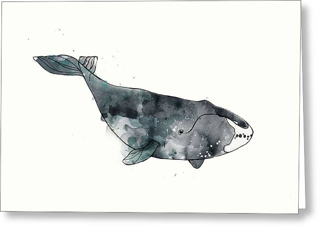 Bowhead Whale From Whales Chart Greeting Card by Amy Hamilton