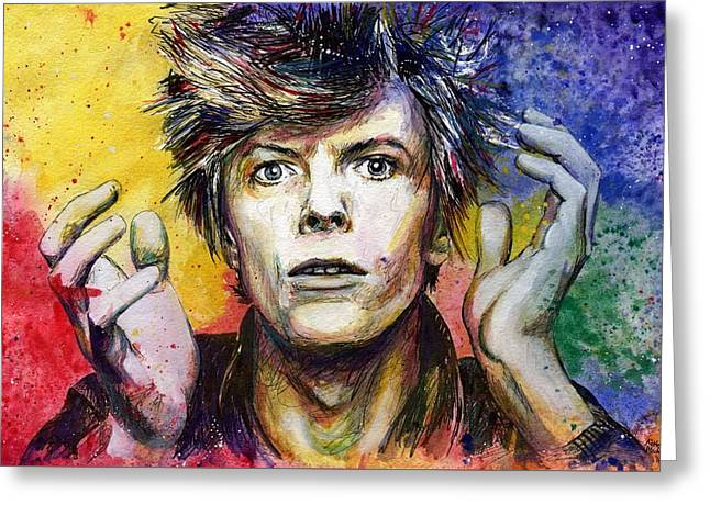Bowie Greeting Card by Nate Michaels