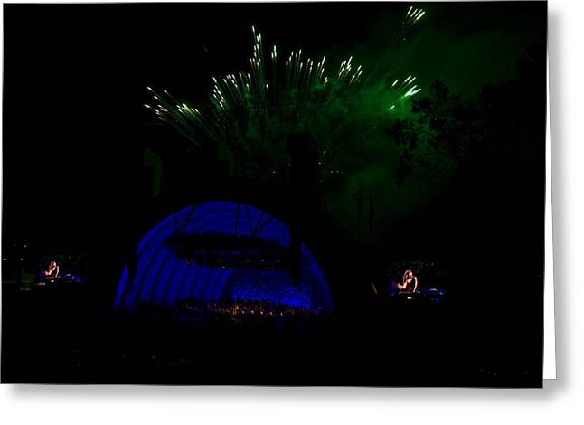 Hollywood Bowl Greeting Cards - Bowl Fireworks Greeting Card by Mitchell Christopher