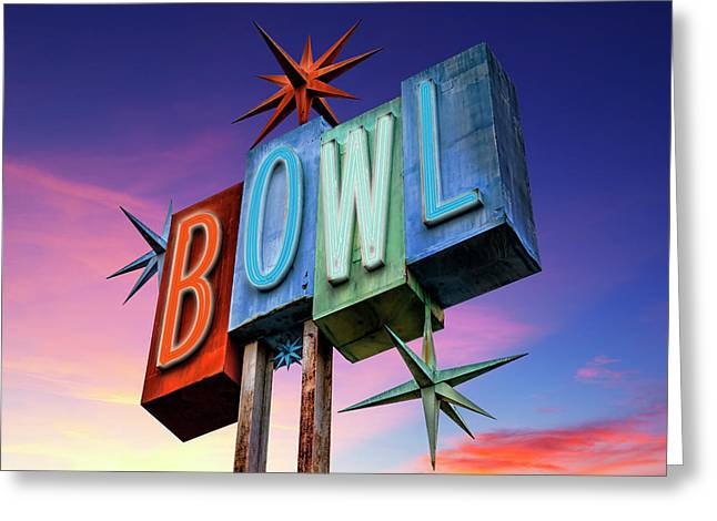 Bowling Americana Greeting Card by Kelley King