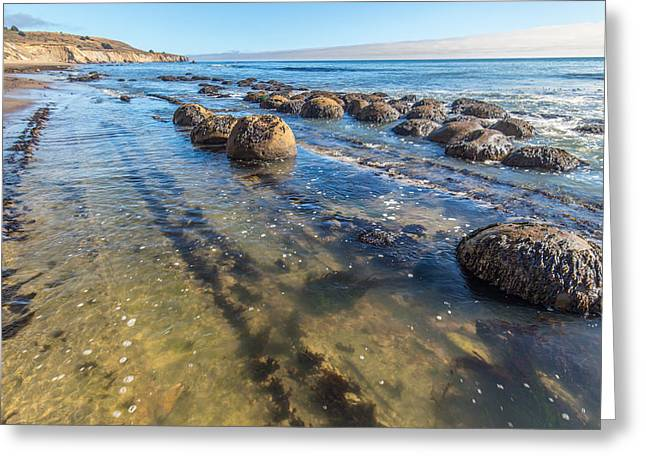 California Beaches Greeting Cards - Bowling Ball Beach Wading Greeting Card by Marc Crumpler