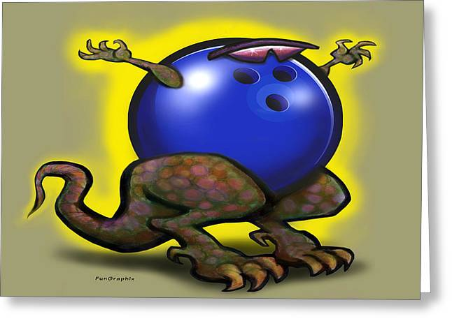 Bowling Greeting Cards - Bowling Beast Greeting Card by Kevin Middleton