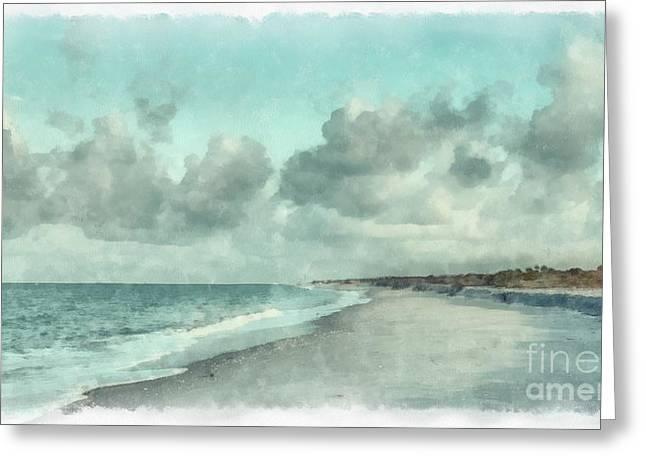 Florida House Greeting Cards - Bowman Beach Sanibel Island Florida Greeting Card by Edward Fielding