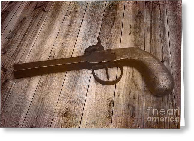 Box Lock Pistol Greeting Card by Jorgo Photography - Wall Art Gallery