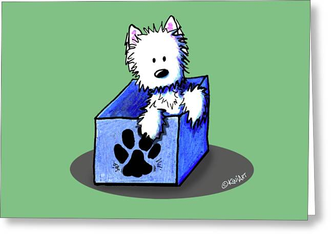 Boxed In Cuteness Greeting Card by Kim Niles