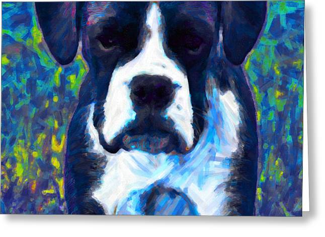 Boxer 20130126v5 Greeting Card by Wingsdomain Art and Photography