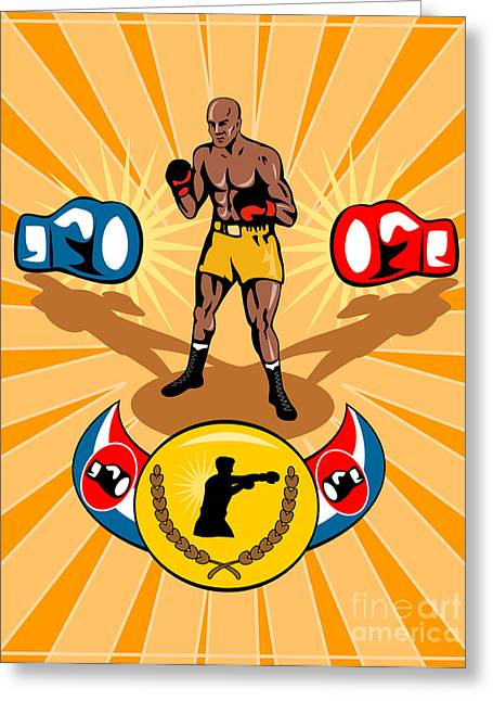 Boxer Digital Greeting Cards - Boxer Boxing poster Greeting Card by Aloysius Patrimonio