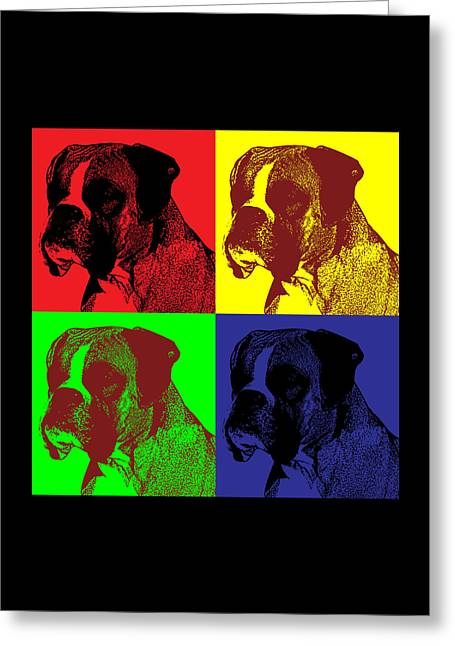 Boxer Dog Pop Art Style Greeting Card by James Bryson