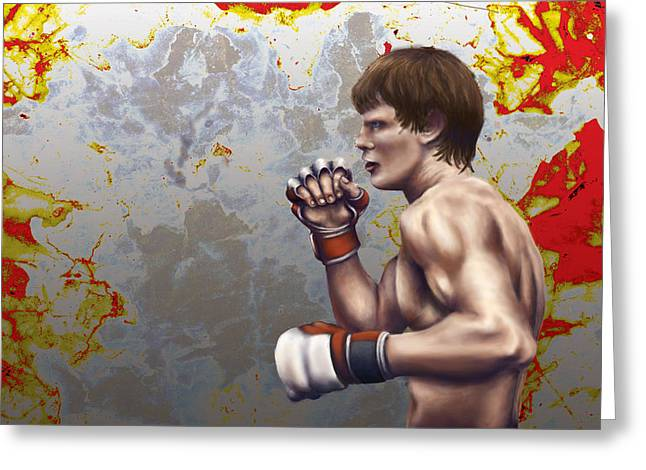 Boxer Digital Art Greeting Cards - Boxer Greeting Card by Jason Pickens