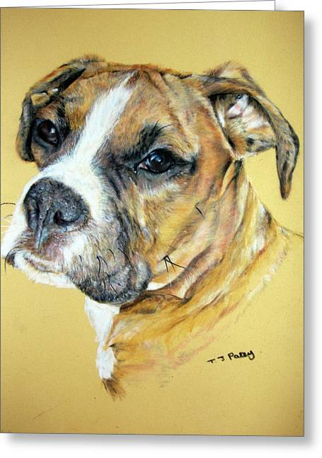 Boxer Pastels Greeting Cards - Boxer Greeting Card by Tanya Patey
