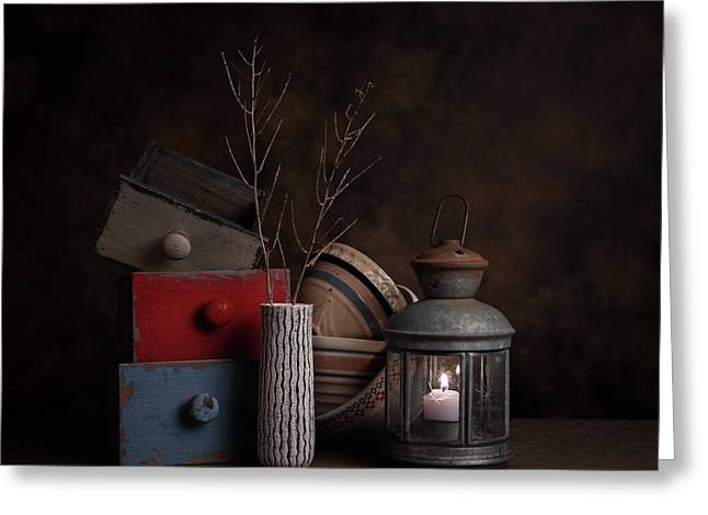 Boxes And Bowls Greeting Card by Tom Mc Nemar