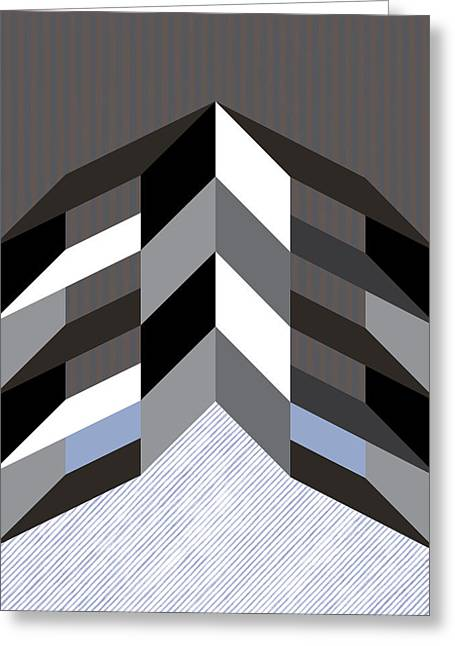 Geometric Design Greeting Cards - Boxes Greeting Card by Marcio Pontes