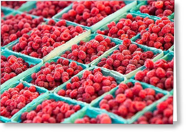 Boxes Of Raspberries Greeting Card by Todd Klassy