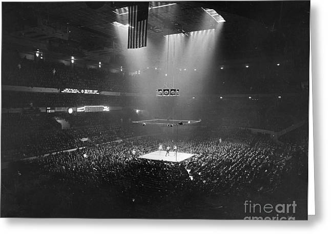 Rings Greeting Cards - Boxing Match, 1941 Greeting Card by Granger