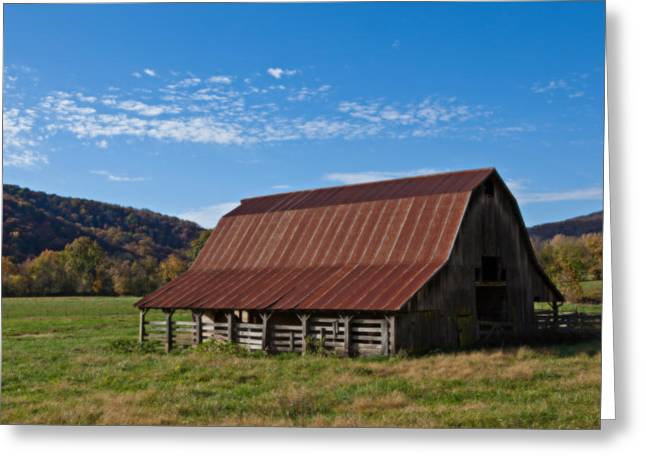 Boxley Valley Greeting Cards - Boxley Valley Barn Greeting Card by Jonas Wingfield