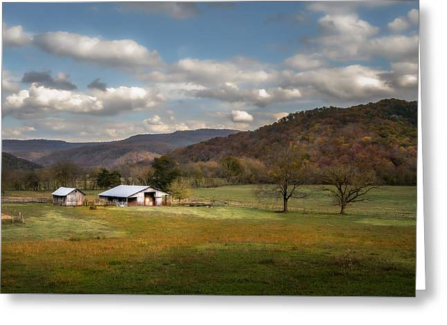 Boxley Valley Greeting Cards - Boxley Valley Farm Greeting Card by James Barber