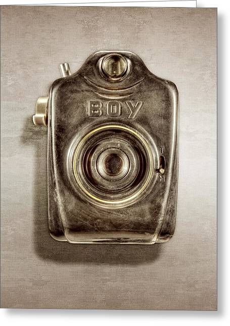 Boy Camera Front Greeting Card by YoPedro