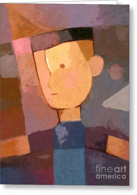 Childrens Portraits Greeting Cards - Boy Greeting Card by Lutz Baar
