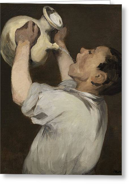 Boy With Pitcher Greeting Card by Edouard Manet