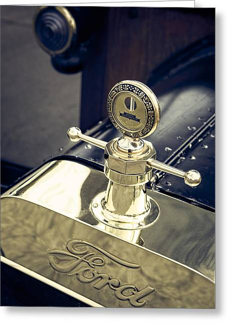 Ford Model T Car Greeting Cards - Boyce MotoMeter Greeting Card by Caitlyn  Grasso