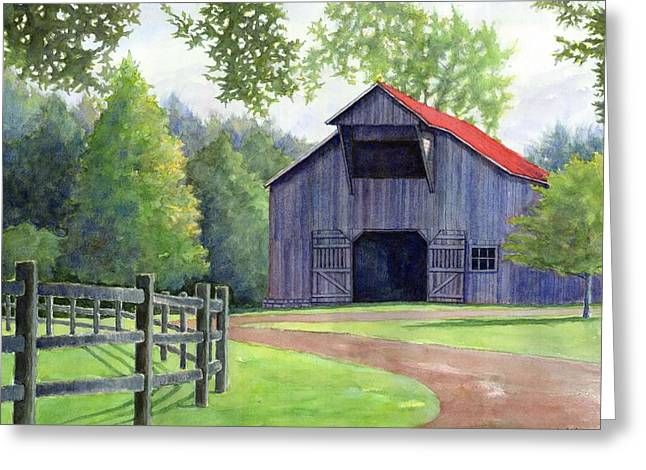 Janet King Paintings Greeting Cards - Boyd Mill Barn Greeting Card by Janet King
