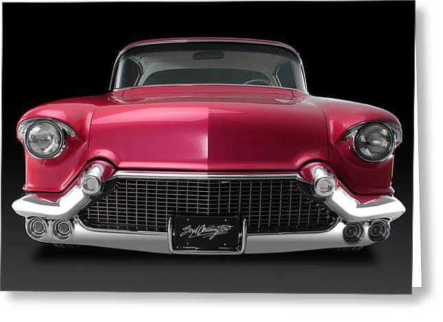 Boyd's '57 Pink Cadillac Greeting Card by Dennis Fugnetti