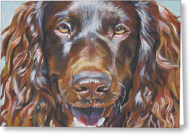 Mahogany Red Greeting Cards - Boykin Spaniel Greeting Card by Lee Ann Shepard