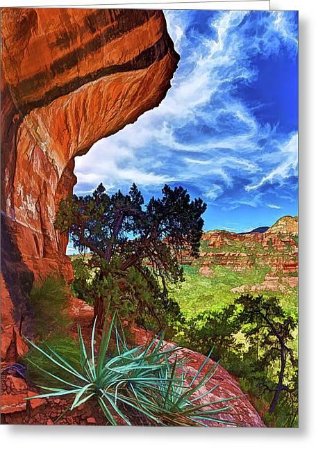 Boynton Canyon Cliffs 1 Greeting Card by ABeautifulSky Photography